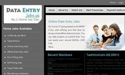 Screenshot of Data Entry Jobs