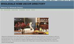 Screenshot of Wholesale Home Decor Directory