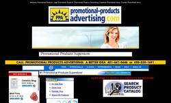 Screenshot of Promotional Products Advertising