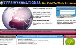 Screenshot of Work at Home, No signup fees, Unlimited Income
