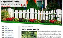 Screenshot of Vinyl Picket Fences - Vinyl Fence Toronto
