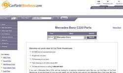 Screenshot of Mercedes Benz C230 Parts