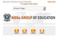 Screenshot of NIOSe School of Distance Education