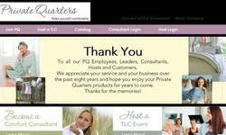 Screenshot of myprivatequarters.com