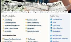 Screenshot of New Free Classifieds Ads Site