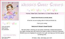 Screenshot of Nessa's Sweet Scents