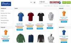 Screenshot of Online T-shirts Polos Tank tops Shorts