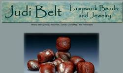 Screenshot of Judi Belt Lampwork Beads and Jewelry