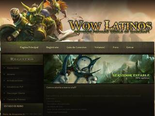 Screenshot of WoW Latinos