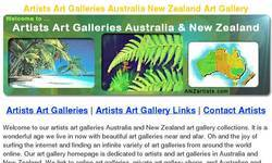 Screenshot of Artists Art Galleries Australia New Zealand