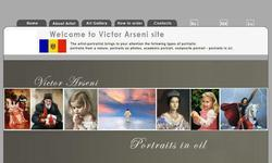 Screenshot of Victor Arseni - Portraits by oil, illustration for the stories, sale of pictures