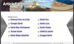 Screenshot of ArticleEarth.com