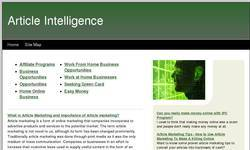 Screenshot of Article Intelligence