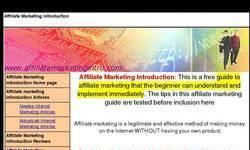 Screenshot of Affiliate Marketing Introduction