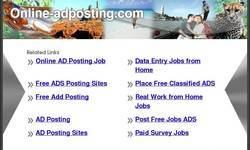 Screenshot of Ad Posting Work - Home Based Copy Paste Work - Work From Home