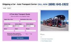 Screenshot of Shipping a Car