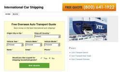 Screenshot of International Car Shipping