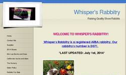 Screenshot of Whisper's Rabbitry