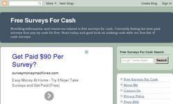 Screenshot of Free Surveys For Cash