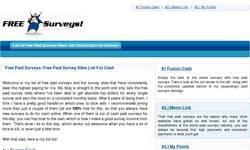 Screenshot of Free Survey List