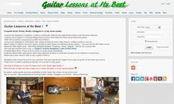 Screenshot of guitarelements - guitar lessons at it's best - Free to Join