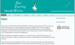 Screenshot of Sew Exciting Needleworks