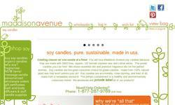 Screenshot of Pure Soy Candles by Maddison Avenue Candle Company