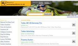 Screenshot of Pet products auction site
