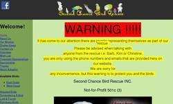 Screenshot of second chance bird rescue & rehab inc..