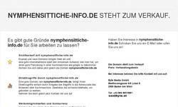 Screenshot of Nymphensittich-Info-Seite