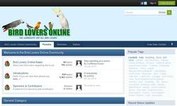Screenshot of Bird Lovers Online