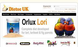 Screenshot of Dietec UK - Specialist Avian Supplies