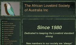 Screenshot of The African  Lovebird Society of Australia Inc