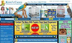 Screenshot of www.KingsCages.com