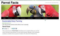 Screenshot of Parrot facts