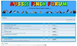 Screenshot of Aussie Finch Forum