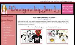 Screenshot of Designs by Jen L.