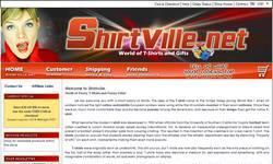 Screenshot of www.SHIRTVILLE.net