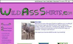 Screenshot of Wild Ass Shirts.com