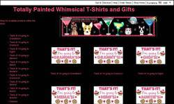 Screenshot of Totally Painted Whimsical Tees & Gifts