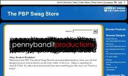 Screenshot of The Official pennybanditproductions. Swag Store