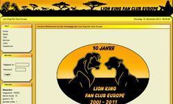 Screenshot of Lion King Fan Club Europe