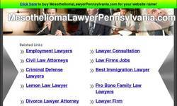 Screenshot of Mesothelioma Lawyer Pennsylvania