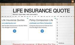Screenshot of insurance life quote