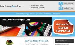 Screenshot of http://www.colorprintingcentral.com