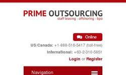 Screenshot of prime outsourcing
