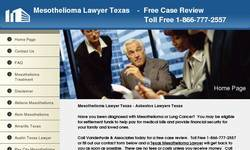 Screenshot of Mesothelioma Lawyer Texas