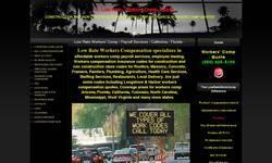 Screenshot of Low Rate Workers Comp - California - Florida