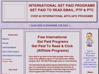Screenshot of International Get Paid to Read Email Programs