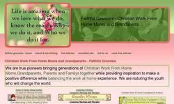 Screenshot of Faithful Grannies . Com